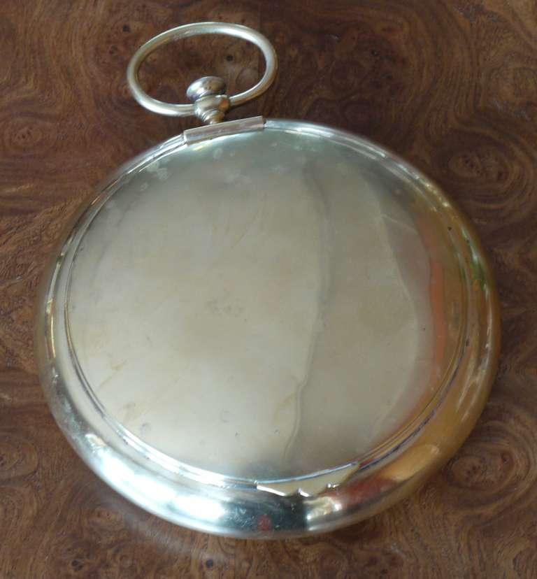 Vintage Italian Pocket Watch Shaped Brass Box For Sale 1
