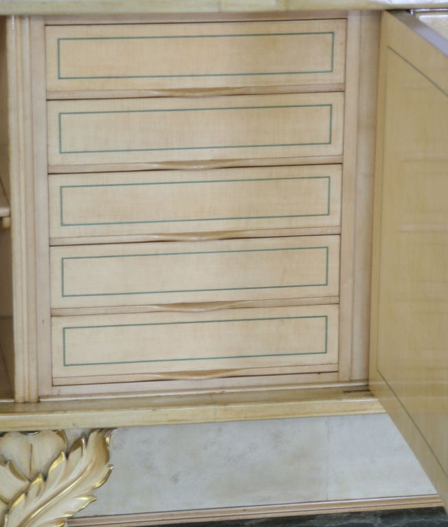 Italian Parchment Sideboard by Dassi For Sale