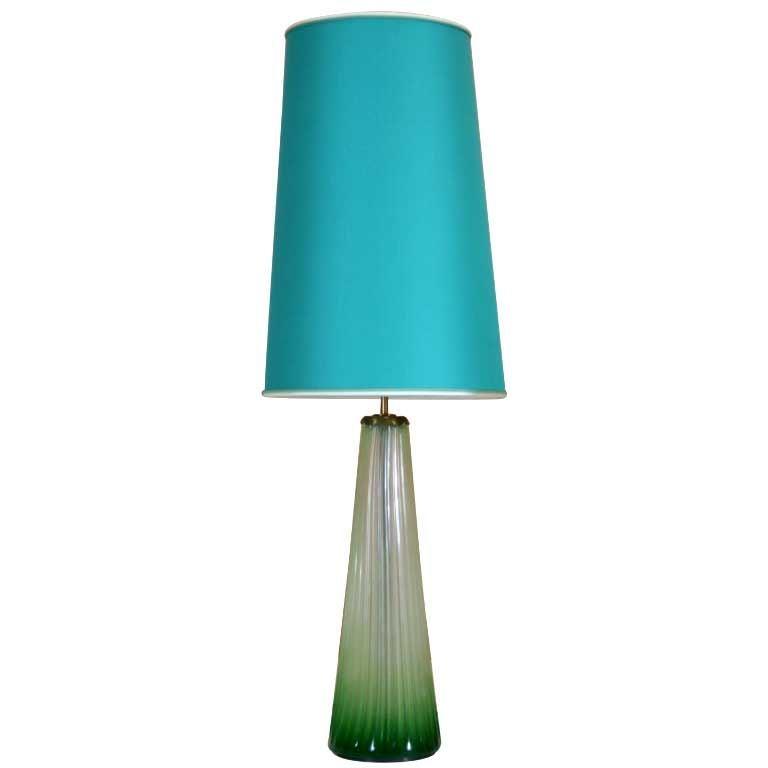 Large Stunning Murano Lamp by Seguso