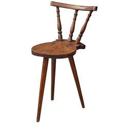 Sculptural 19th Century Captains Chair