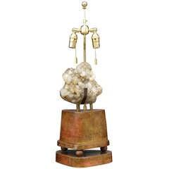 Smoky Quartz Lamp by Carole Stupell