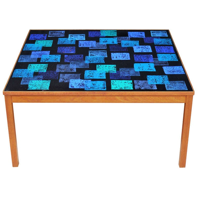 Enameled Cocktail Table by P. Torneman for NK For Sale