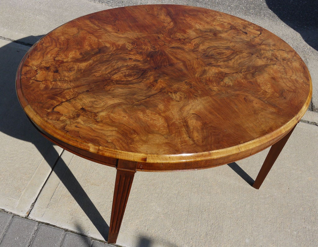 Ferrara Burl And Walnut Coffee Table By Rosario Cicero At 1stdibs