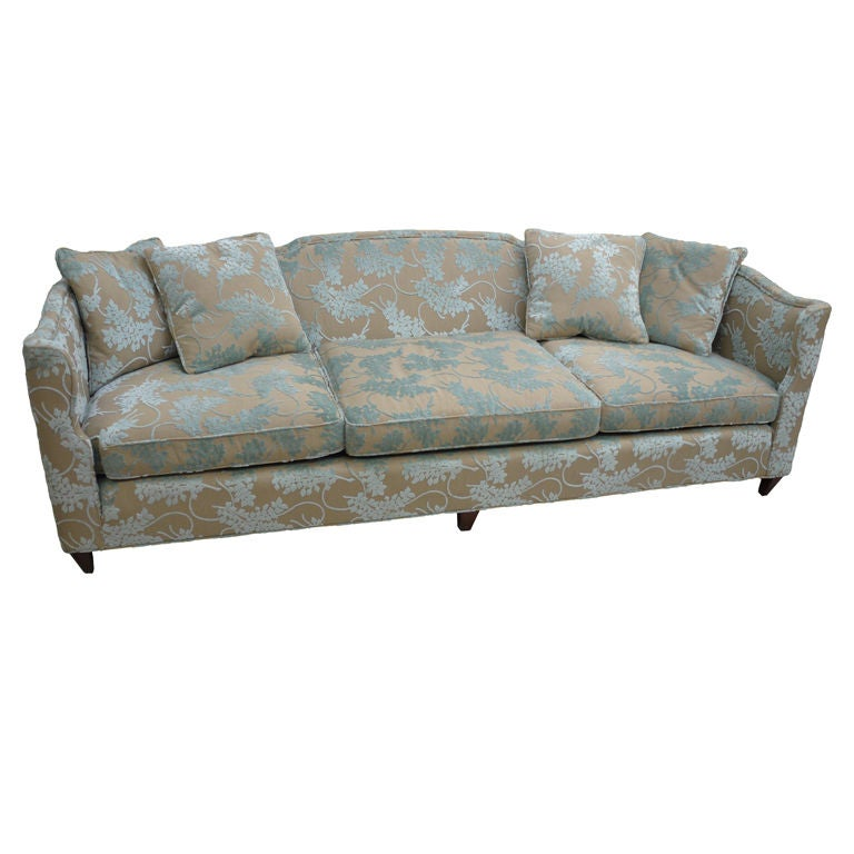 Vintage Henredon Sofa in Cut Velvet at 1stdibs