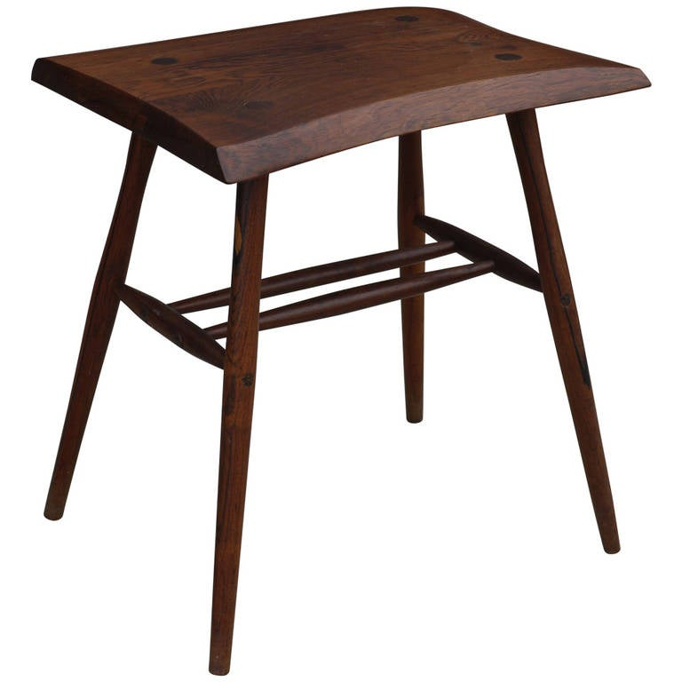 this rosewood studio craft movement stool or table is no longer