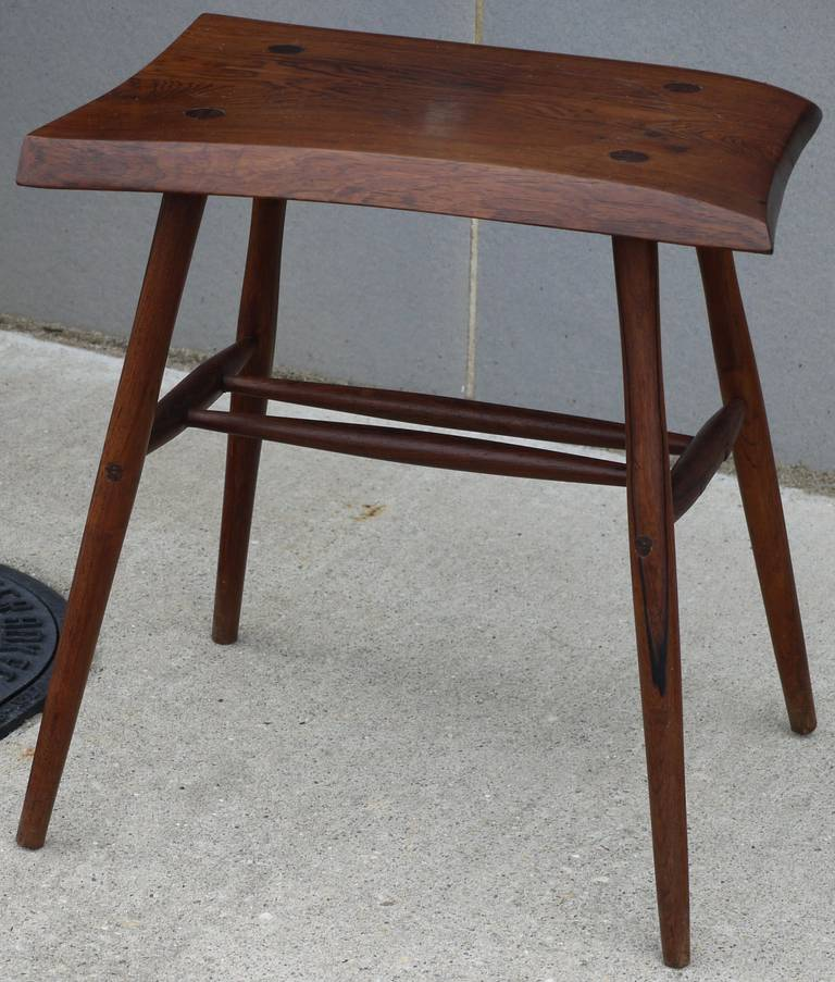 rosewood studio craft movement stool or table at 1stdibs