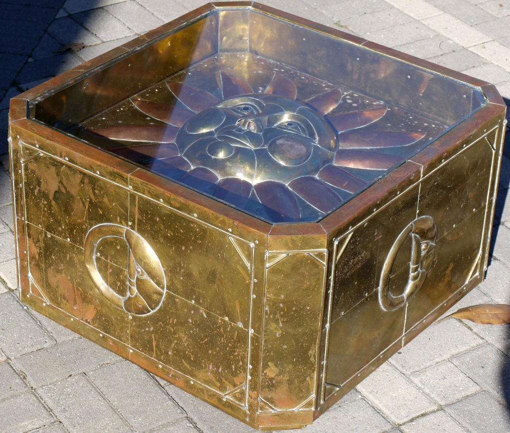 Sergio Bustamante Brass Coffee Table 2