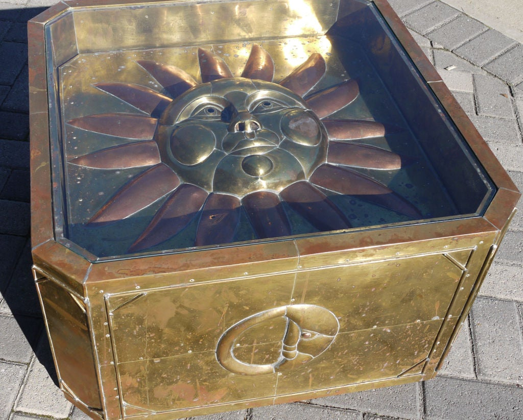 Sergio Bustamante Brass Coffee Table 3