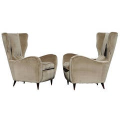 Pair of Paolo Buffa Wingback Chairs