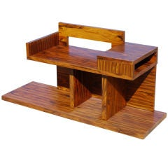 French Modernist Bench in Madagascar Ebony