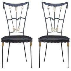 Pair of Arrow Chairs by Tomaso Buzzi