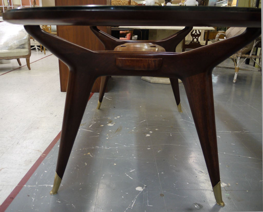 Mid-20th Century Architectural Dining Table by Dassi For Sale