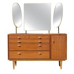 Lebetkin BrothersTeak Vanity with Expressive Mirrors