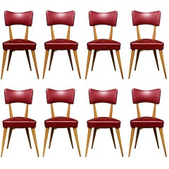 Stunning Set of 8 Italian Dining Chairs