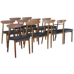 10 Teak Dining Chairs by Harry Ostergaard for Randers Møbelfabrik