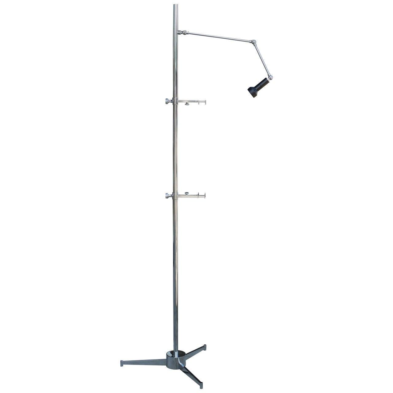 Arredoluce Easel Lamp by Angelo Lelli in Nickel
