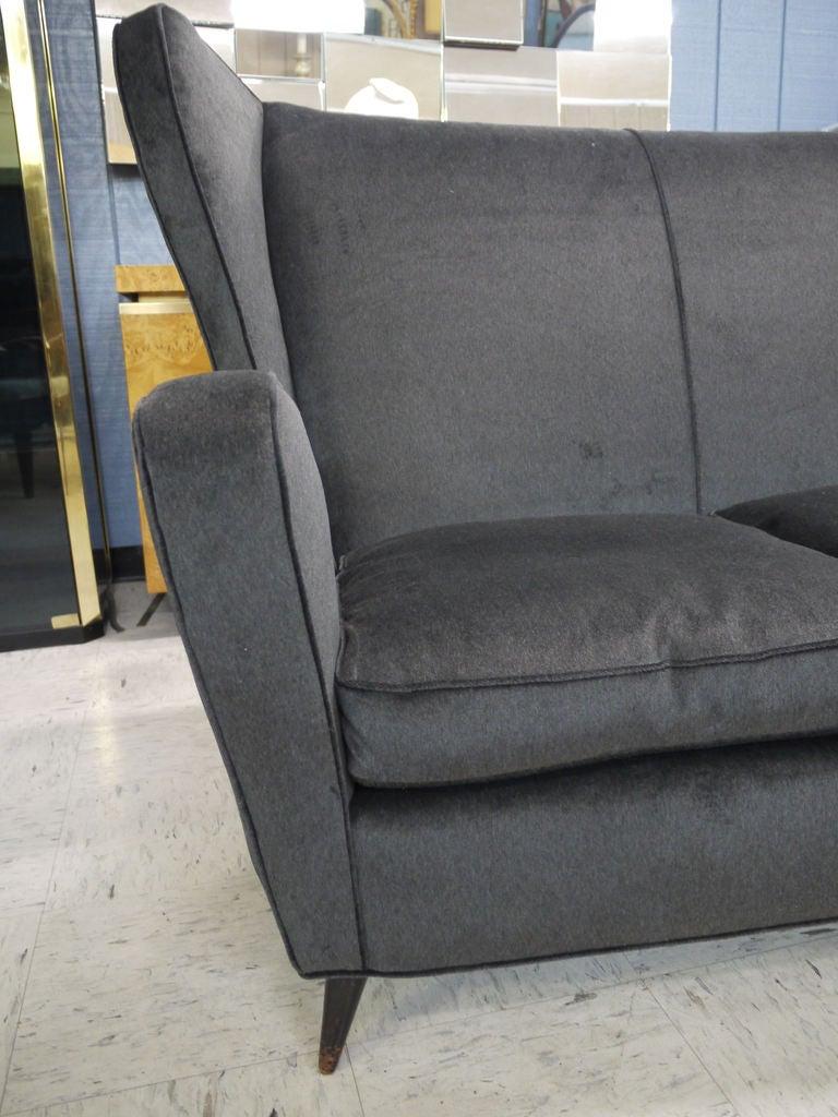 Mid-20th Century Sculptural Italian Sofa For Sale