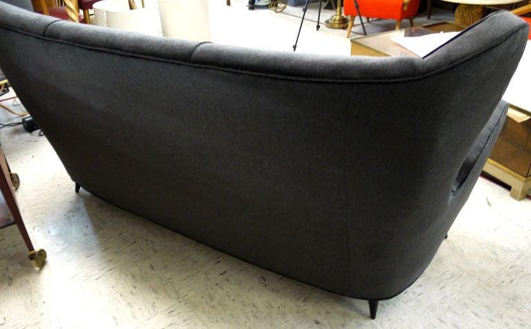 Mid-Century Modern Sculptural Italian Sofa For Sale