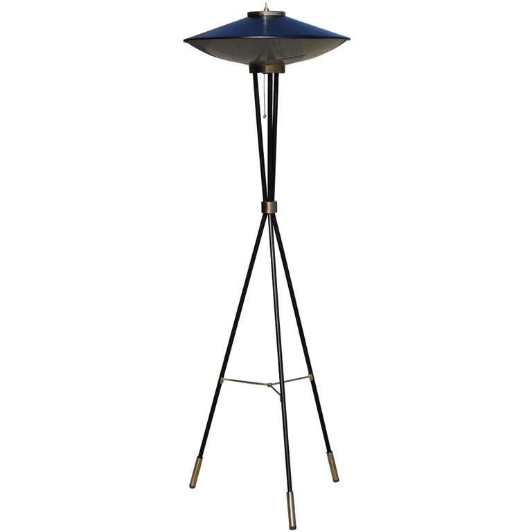 Sculptural Tripod Floor Lamp by Stilnovo