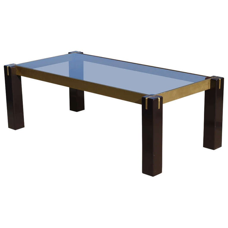 Architectural italian coffee table at 1stdibs for Architectural coffee table