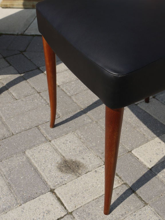 Mahogany Elegant Set of 6 Italian Dining Chairs For Sale