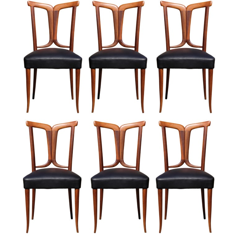 Elegant set of 6 italian dining chairs for sale at 1stdibs for 6 x dining room chairs