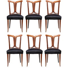 Elegant Set of 6 Italian Dining Chairs