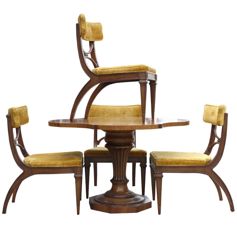 Vintage Tomlinson Game Table And Chairs At 1stdibs