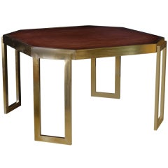 Large Architectural Bronze Dining Table