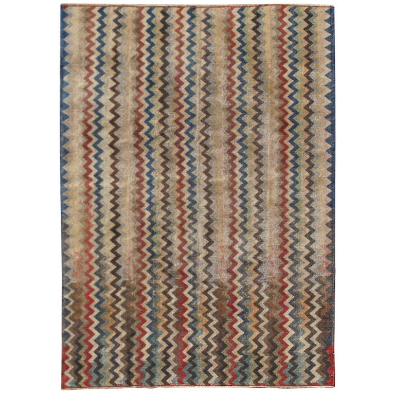 Mid-Century Turkish Modern Rug For Sale At 1stdibs