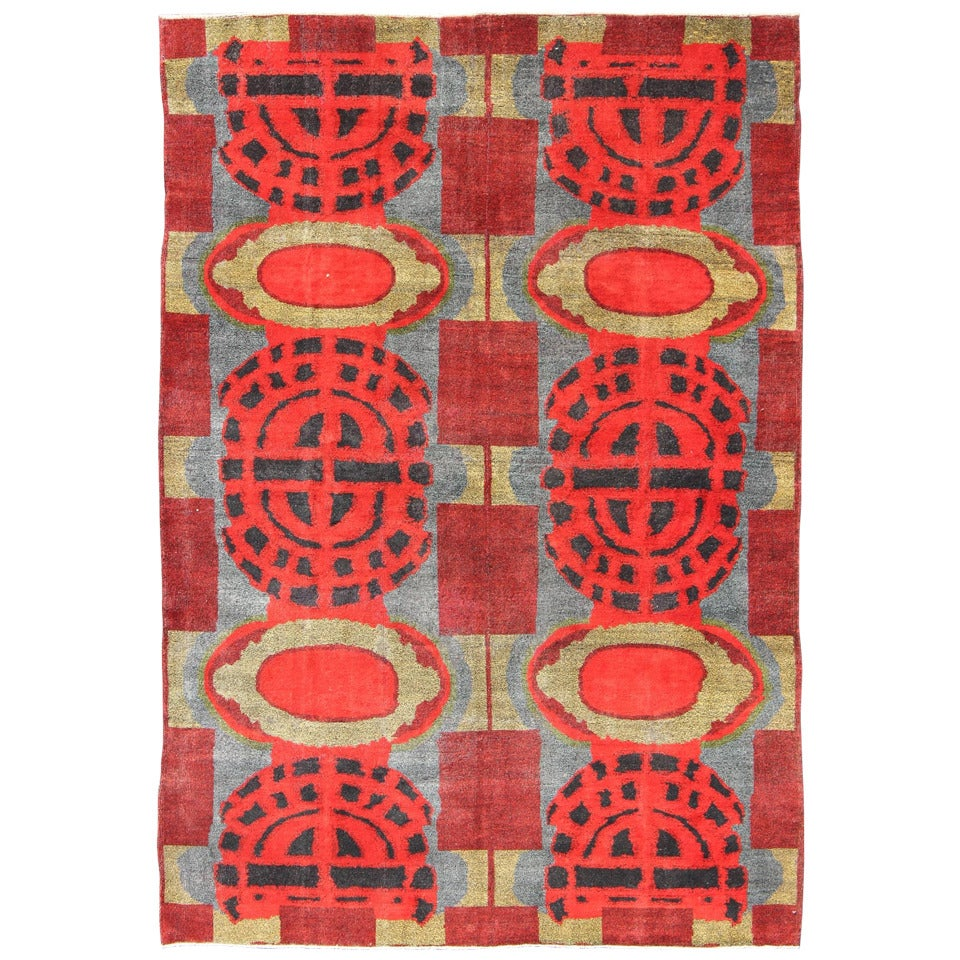 Mid Century Modern Turkish Rug For Sale At 1stdibs