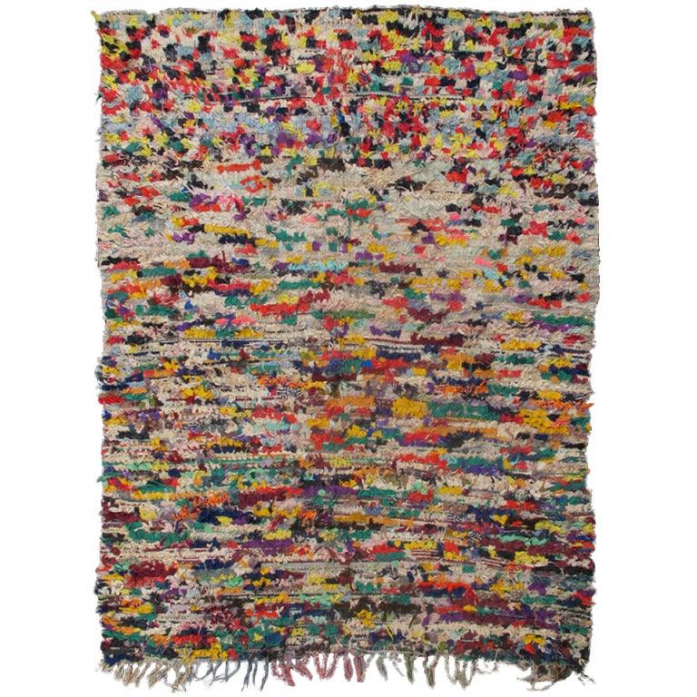 Vintage Moroccan Rag Rug For Sale At 1stdibs