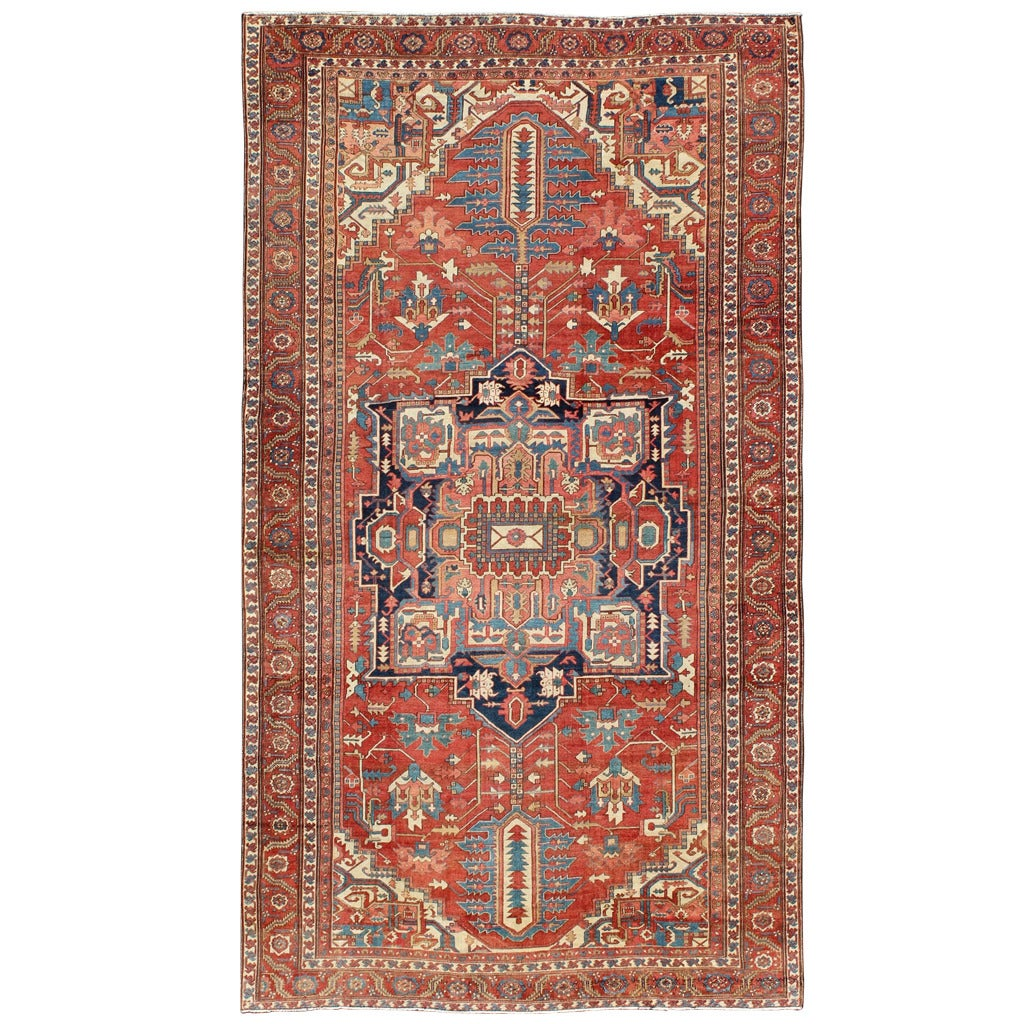 Antique Large Rug: Large Antique Persian Serapi Rug For Sale At 1stdibs