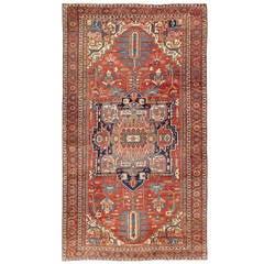 Large Antique Persian Serapi Rug