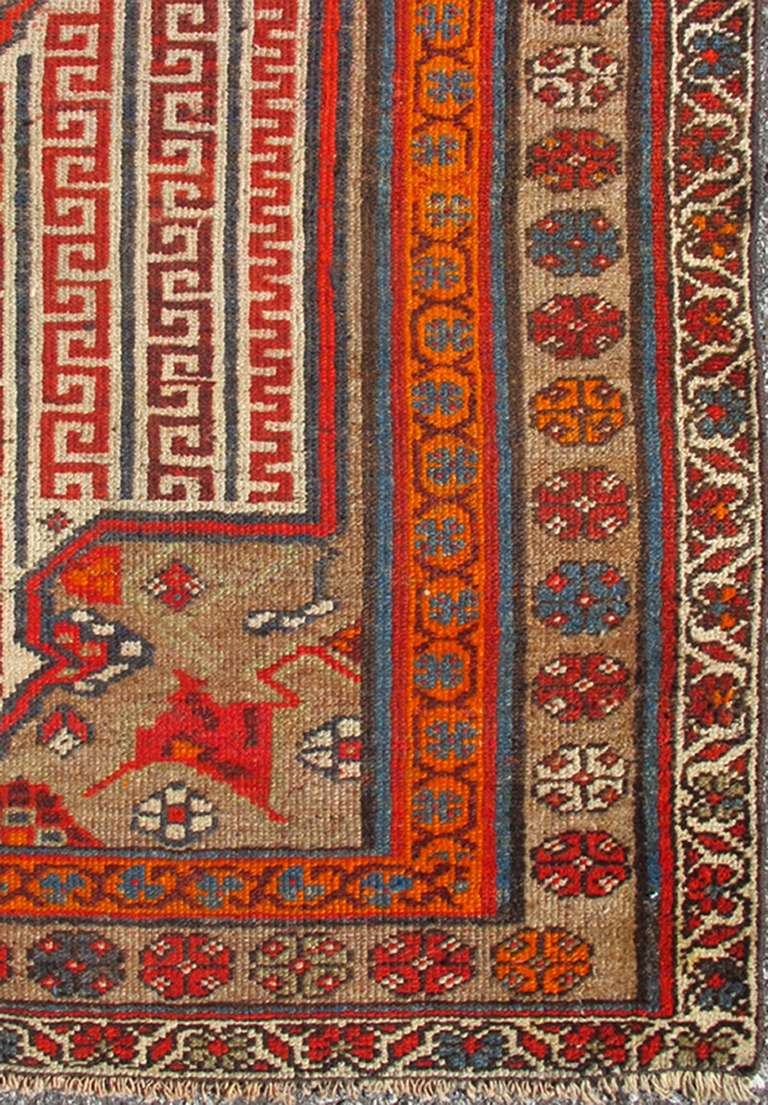 Antique Persian Seneh Malayer Rug With Intricate Designs