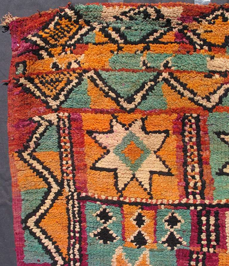 Colorful Moroccan In Good Condition For Sale In Atlanta, GA