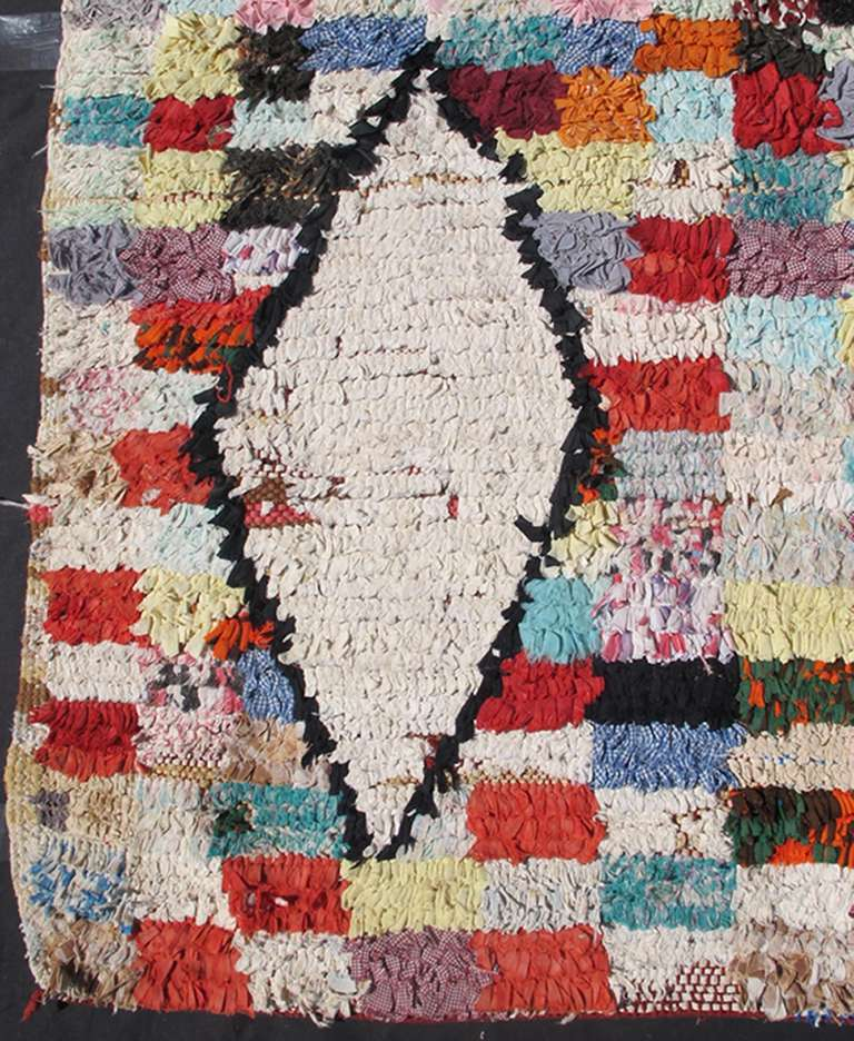 Colorful Moroccan Rag Rug At 1stdibs