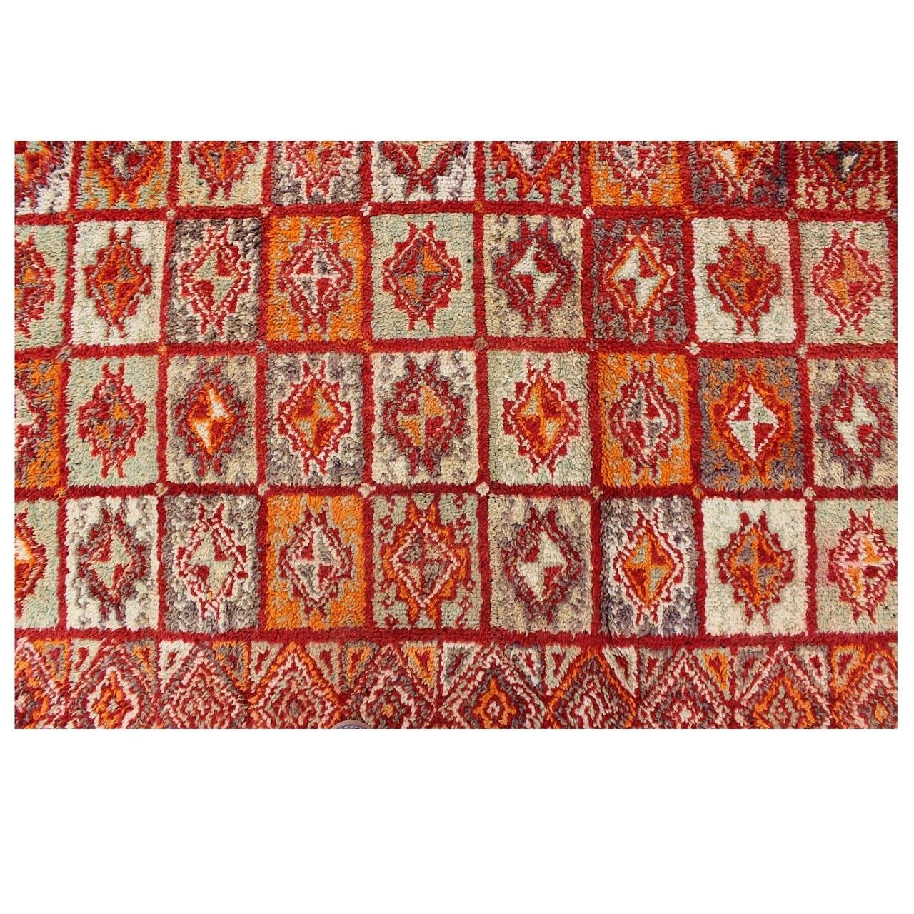 Colorful moroccan rug for sale at 1stdibs for Colorful rugs for sale