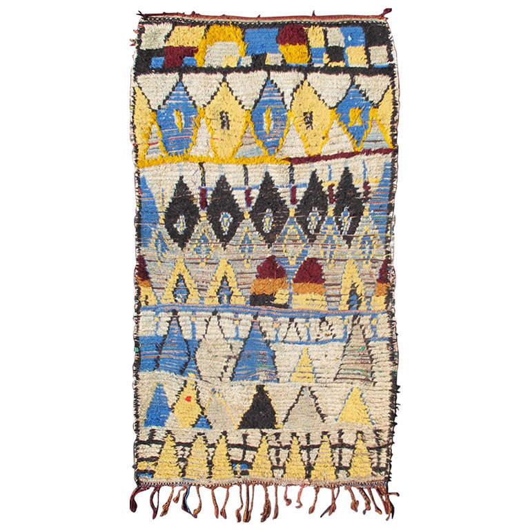 Moroccan Boucherouite Rug For Sale At 1stdibs: Colorful Moroccan Rug At 1stdibs
