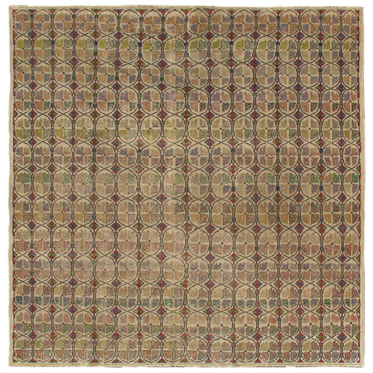 Mid Century Modern Rugs: Mid-Century Modern Turkish Square Rug For Sale At 1stdibs