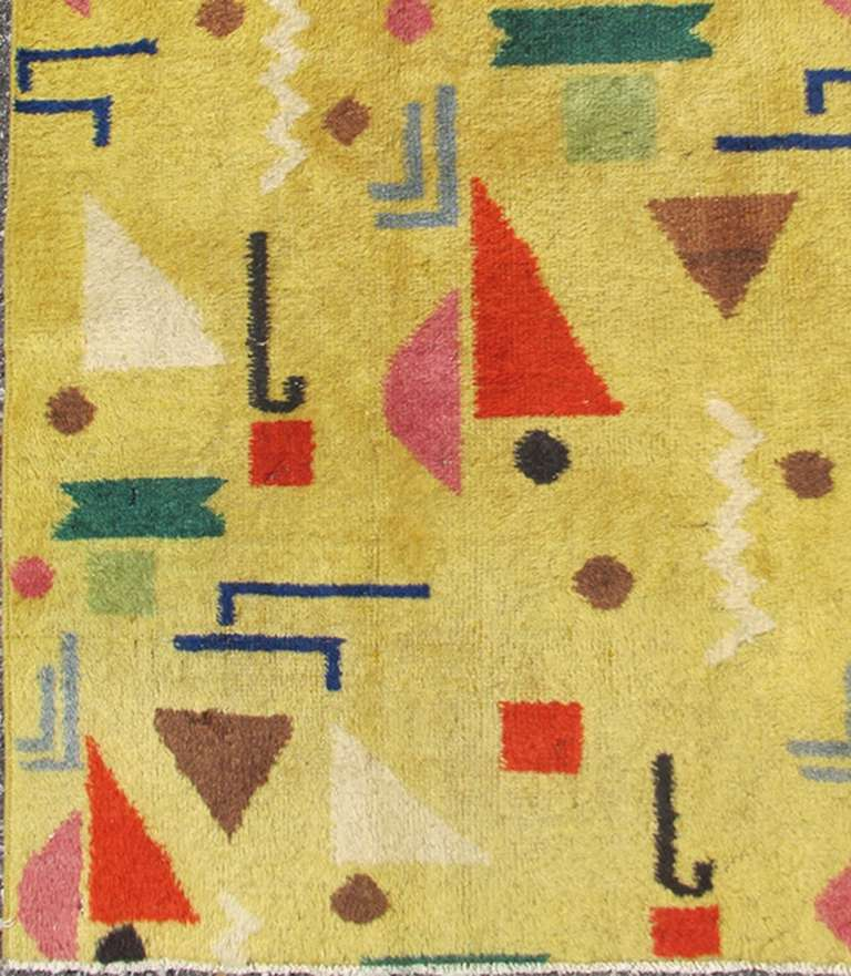 Turkish Mid-Century Modern Rug For Sale At 1stdibs