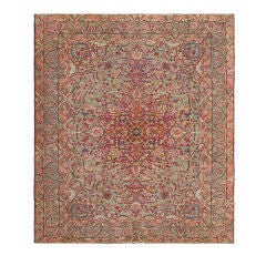 Antique Persian Lavar Kerman Rug with intricate Design