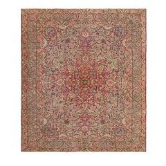Antique Persian Lavar Kerman Rug with intricate Design