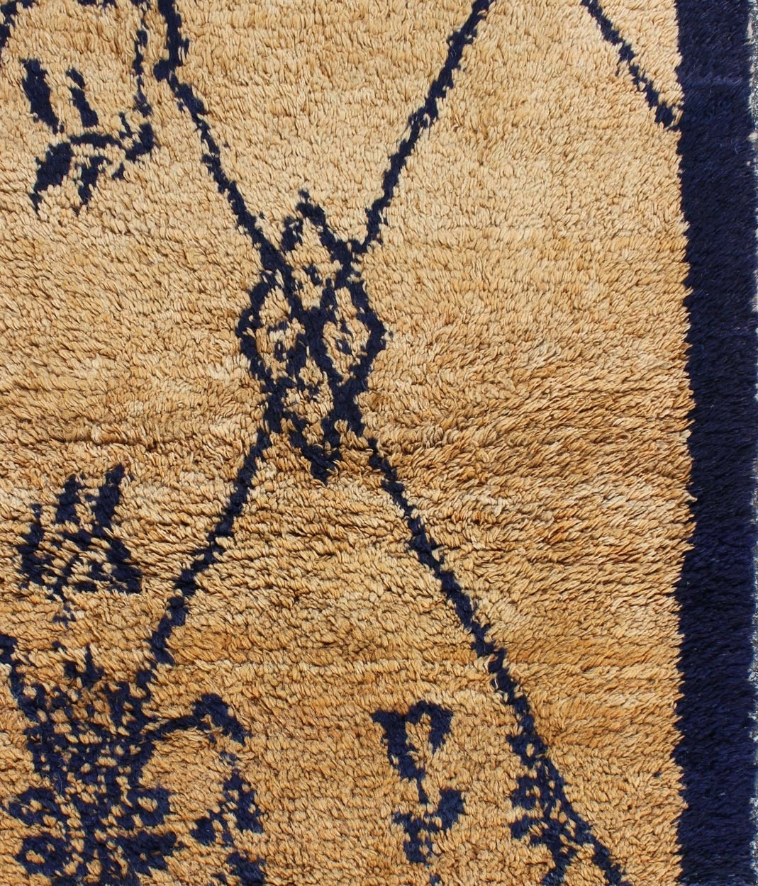 Vintage Blue Tulu Rug In Excellent Condition For Sale In Atlanta, GA