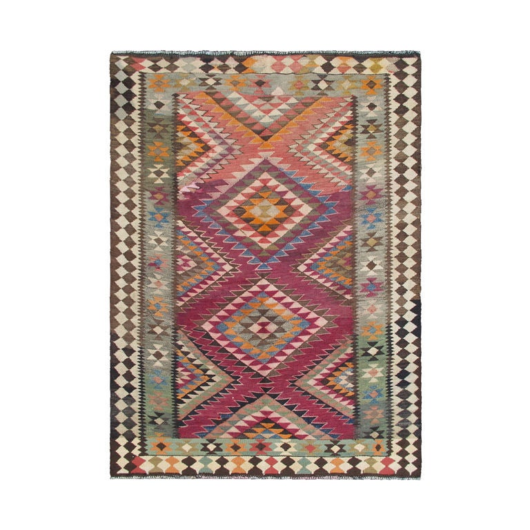 Vintage Persian Kurdish Kilim At 1stdibs