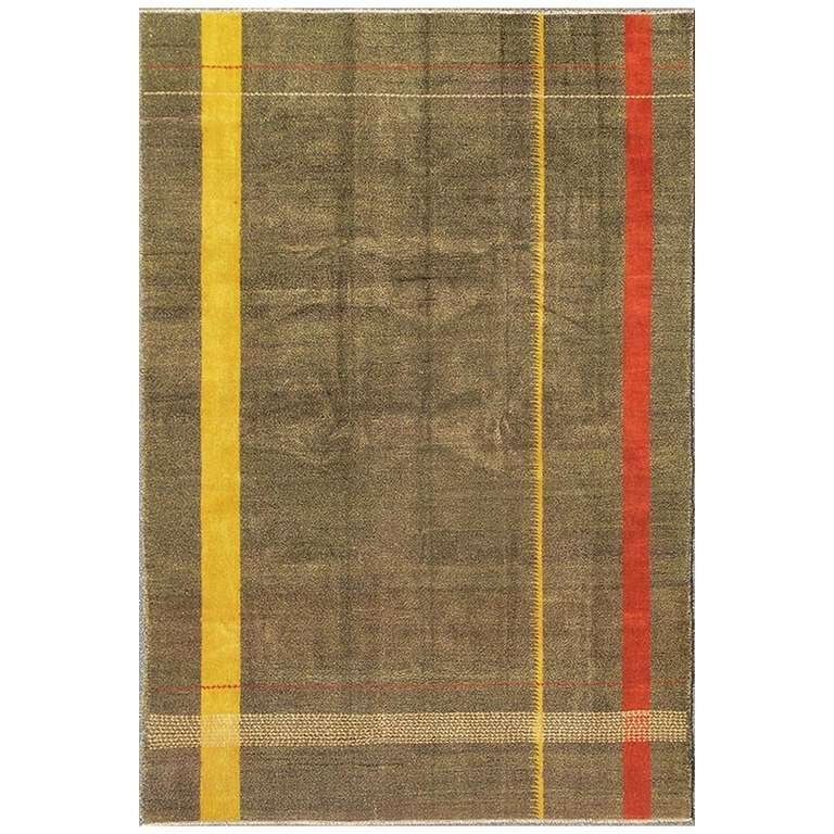 Turkish Mid Century Modern Rug At 1stdibs