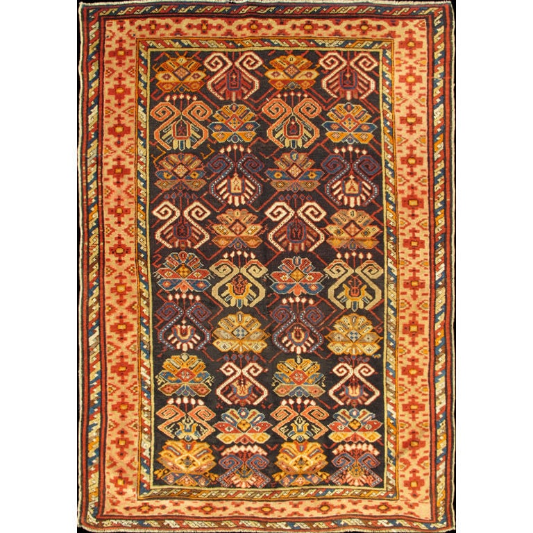 Colorful antique caucasian rug with all over design for for Colorful rugs for sale