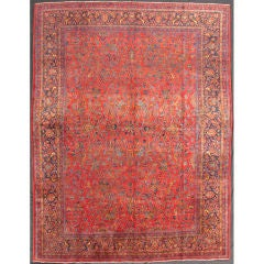 Antique Persian All over Kashan Rug