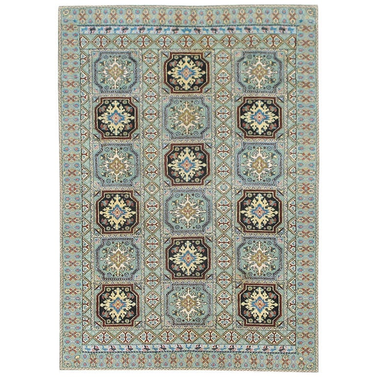 Tribal Vintage Moroccan Rug With Green And Black