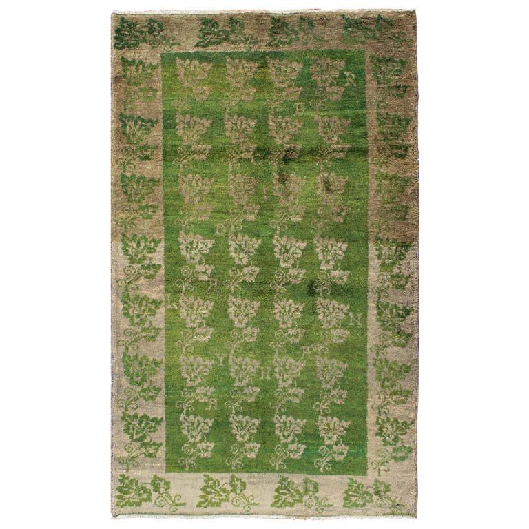 Green Turkish Tulu Rug